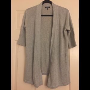 [Express] metallic woven cardigan